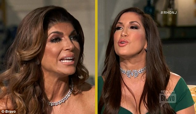 Harsh words: Teresa and Jacqueline hurled insults at each other