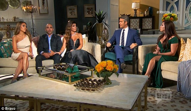 Family affair: Joe Gorga joined his wife Melissa and sister Teresa on the reunion show