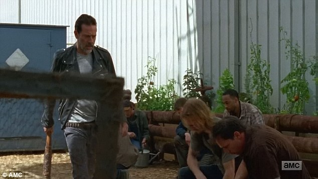 The boss: But whenever Negan walked by Dwight and other members of the group had to kneel in front of its leader