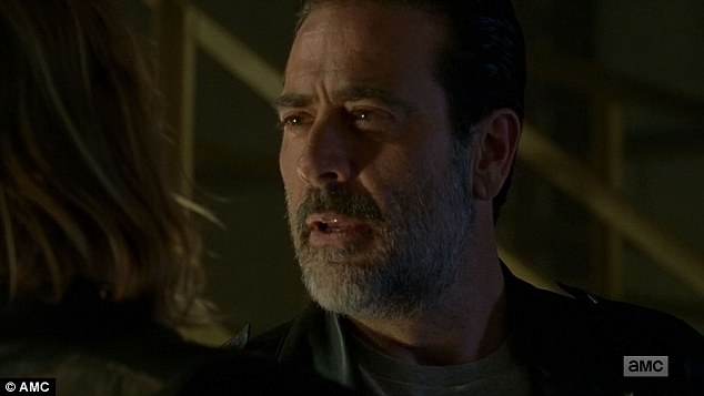 No thanks: 'I'm fine, Im gonna pass but I'm cool,' Dwight told him to Negan's annoyance and anger