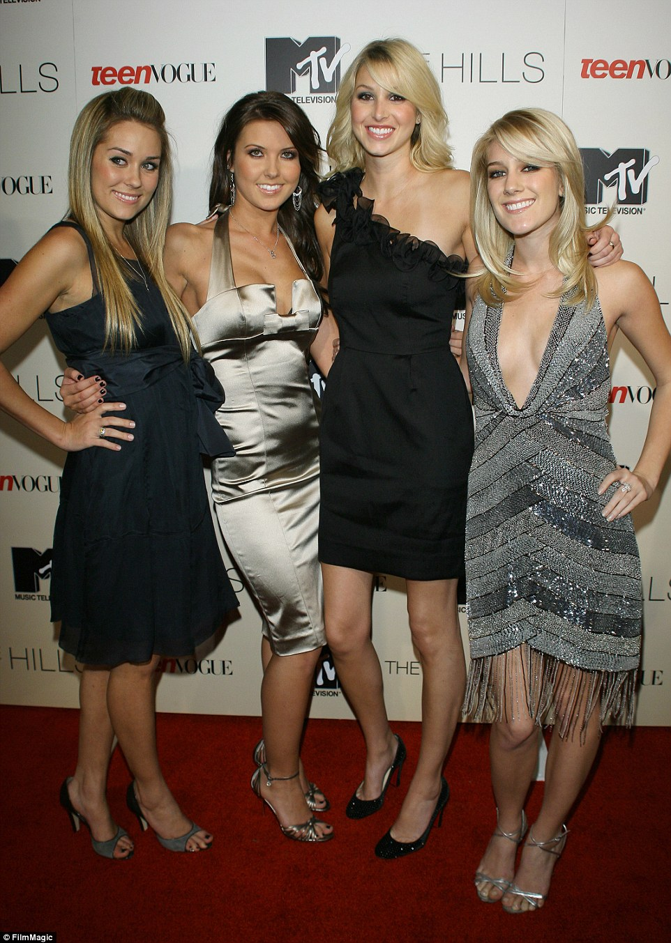Nada: Her Hills cast mates, which include Lauren Conrad, Heidi Montag and Whitney Port, were not at the splashy wedding. Here the MTV stars are seen in 2007