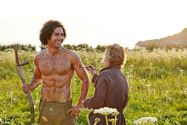 Loved by many: Aidan Turner has been described as a sex symbol after performing scenes topless