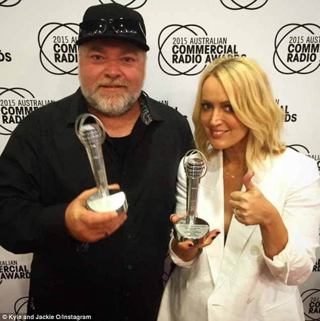 All about himself:The shock jock earlier explained he has 'some Nickelodeon Kid's Choice awards, some radio awards, lots of paintings of myself' store inside of his 'me room'