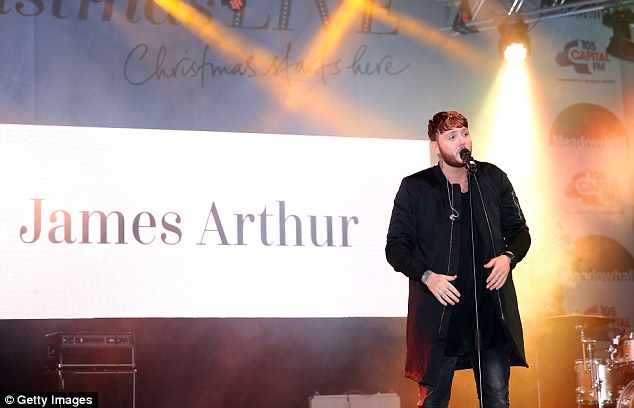 Say my name, say my name: James Arthur was also on the bill for the evening