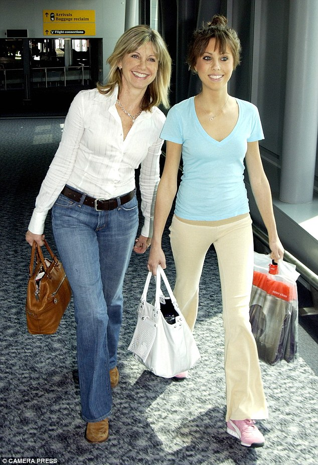 Struggles: Chloe was treated for anorexia when she was 18. She is seen here with her mother Olivia in 2004 at the time