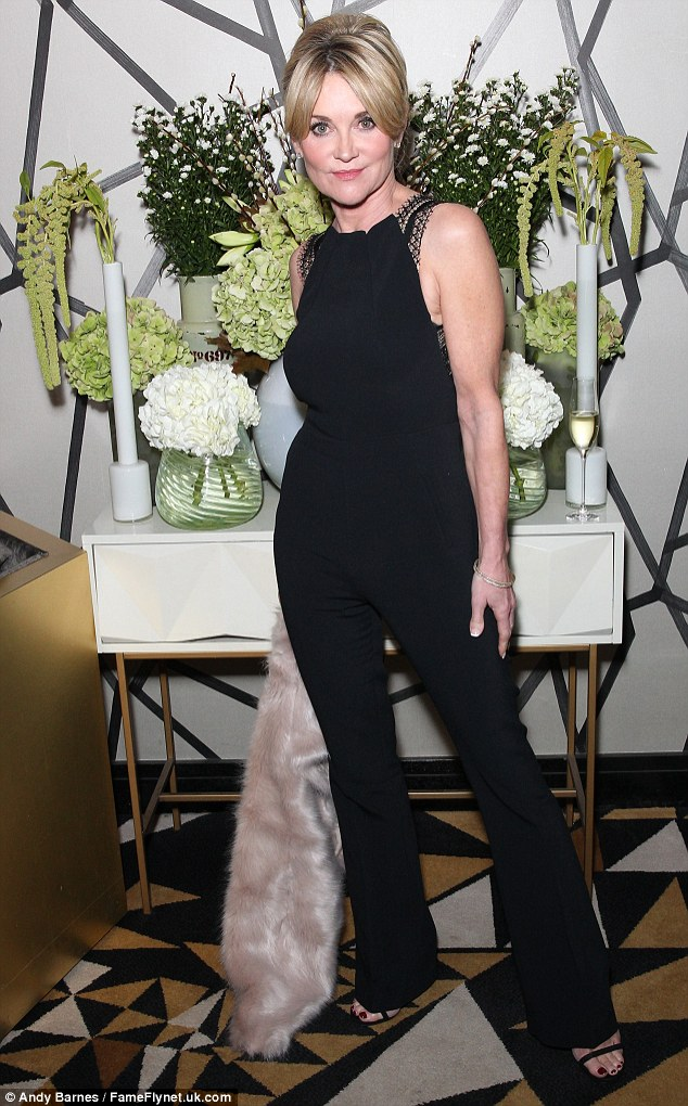 Sartorial sass: Anthea Turner certainly proved she's still a force to be reckoned with in the style stakes, as she rocked a seriously sassy look at the Fight for Life 20th Anniversary gala