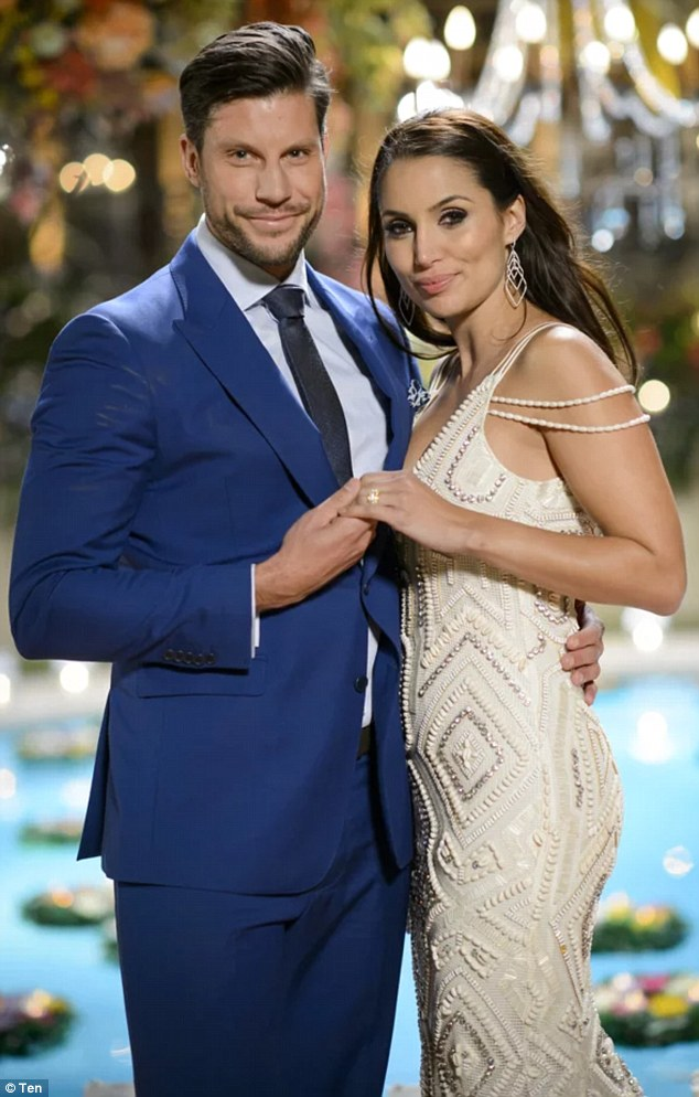 Bling: Sam bought Snezana a $50,000 diamond engagement ring when he proposed to her last year