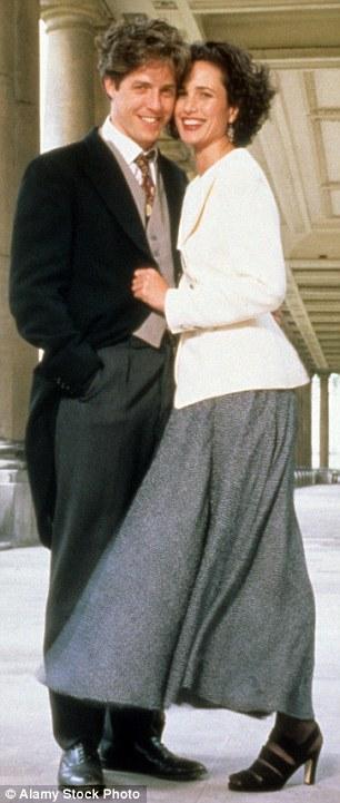 Andie MacDowell and Hugh Grant in Four Weddings