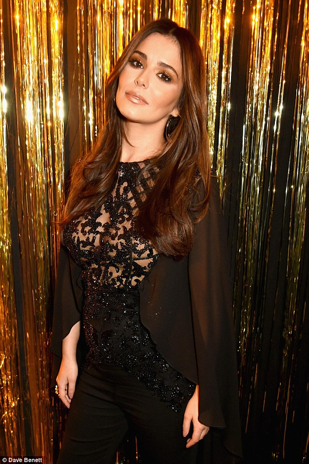 Changing shape: Cheryl sparked pregnancy rumours when she unveiled a 'bump' at the L'Oreal Paris Gold Obsession party at Hotel de la Monnaie in Paris, at the start of the month