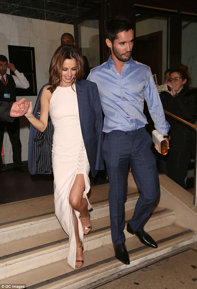 In happier times: Cheryl and her ex husband Jean-Bernard were granted a decree nisi in just 14 seconds last Thursday morning - pictured