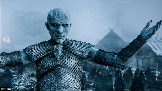 Uh oh: The Night's King kills one of Daenerys' dragons - Viserion - and resurrects him as his own mount
