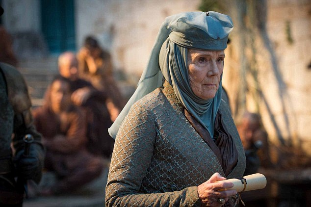 Growing not so strong: Lady Olenna admits to Jaime she killed Joffrey, and Jaime allows her to take her own life by drinking poison.