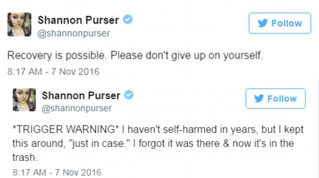 'Don't give up on yourself': She posted an inspiring message to others sufferers that things will eventually get better