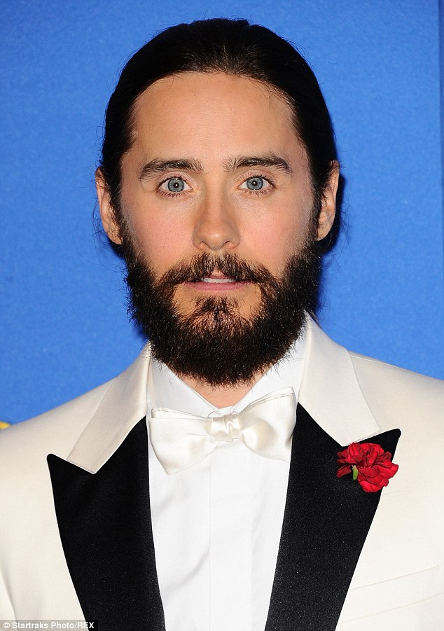 The 30 Seconds To Mars frontman shared a bizarre photo to Snapchat on Monday without any explanation (seen here at the Golden Globes last year)