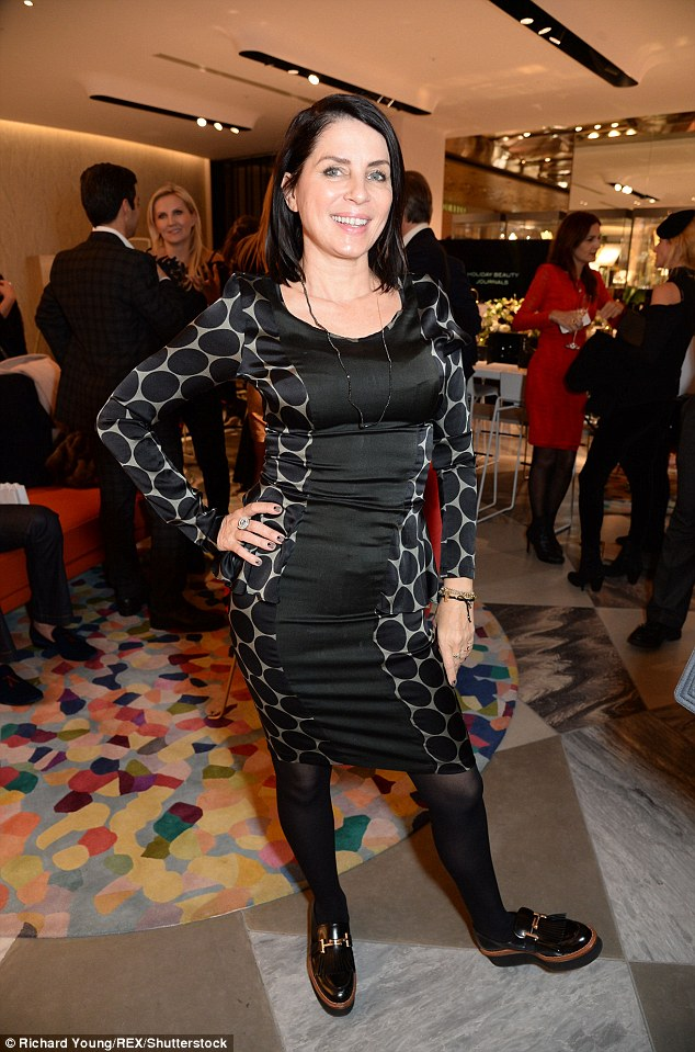 Far from frost-y: Sadie Frost attended the 111Skin Christmas Journals launch at Harvey Nichols in London on Monday night