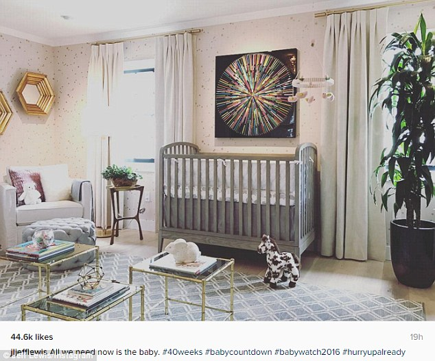 Just waiting on the baby:The star recently shared a picture on Instagram of the stunning nursery he has designed for his little girl