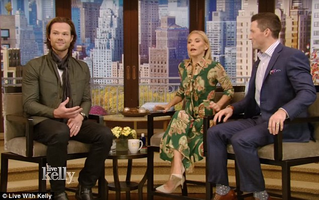 'About to be a father of three': Jared Padalecki announced he was expecting a third child during a guest appearance on the Live! with Kelly show on Monday morning