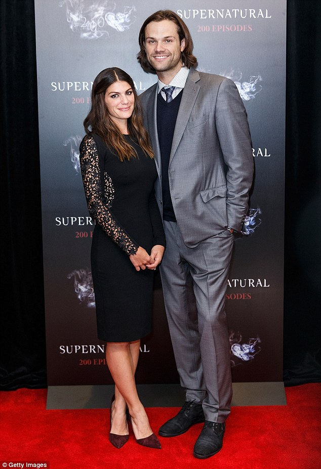 Red carpet romance: Jared and Genevieve began dating after meeting on the set of Supernatural in 2008 and tied the knot in February 2010
