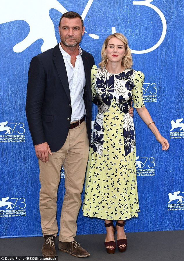 Amicable exes: Australian actress Naomi Watts has admitted there's no hard feelings towards her ex Liev Schreiber and that she'll always support him (seen together in September)