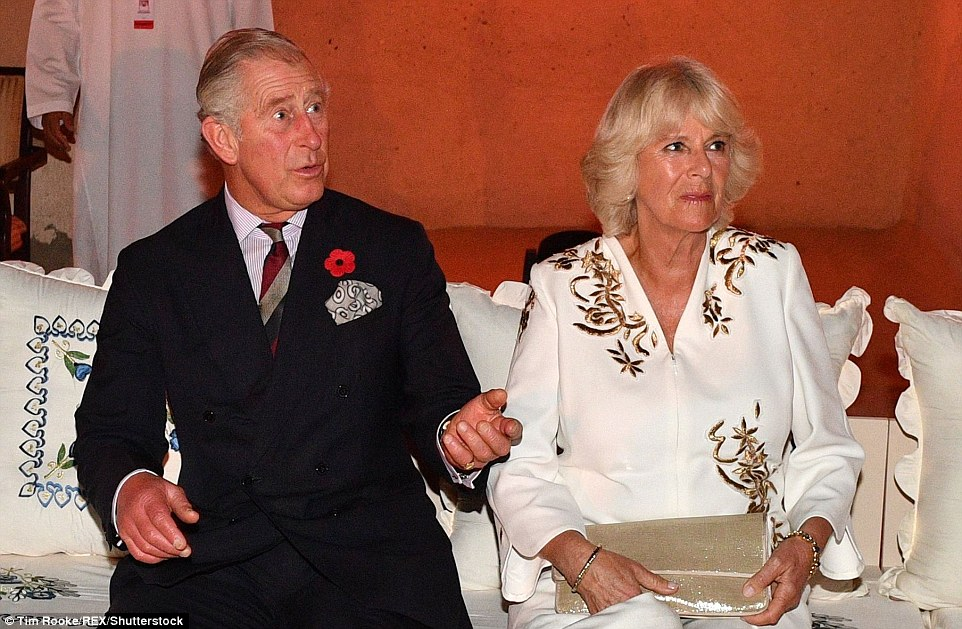 Charles and Camilla, wearing a beautifully embroidered flowing white tunic and trousers by Anna Valentine, also sat entranced by a performance by students from the Centre for Musical Arts along with a duo from the BBC Symphony Orchestra