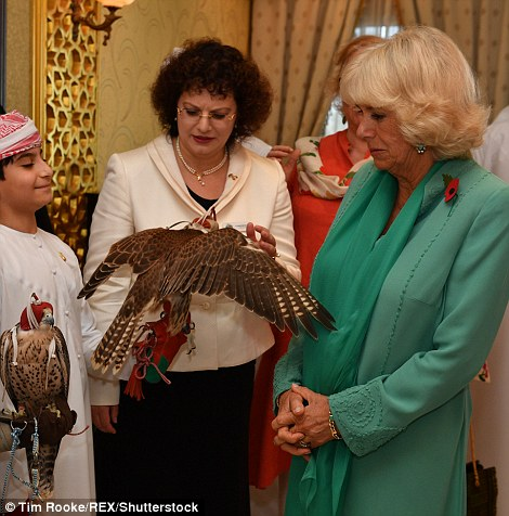 Camilla met a group of children who have been learning about the different aspects of Bedouin culture