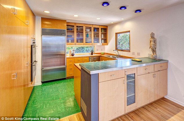 Cosy kitchen: The main residence is 2,400-square-foot with hardwood floors throughout