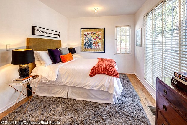 Cali style: The three bedroom, two and a half bathroom Spanish style compound covers 3,601 square feet and sits on a tree-lined street in the ocean-side city