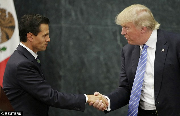 Trump meeting Mexican President Enrique Pena Nieto in August. Trump's comments about Mexico, and pledge to build a wall along the US border, have been among the most contentious moments in the race for the White House