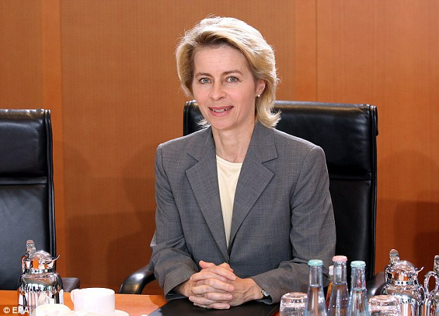 Ursula von der Leyen, Germany's defence minister, said leaders were 'heavily shocked' at Trump's victory