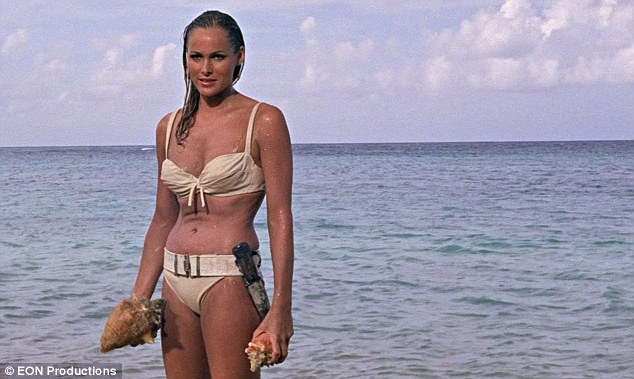 Inspiration? It was much like the iconic scene featuring Ursula Andress from 1962 James Bond flick Dr. No