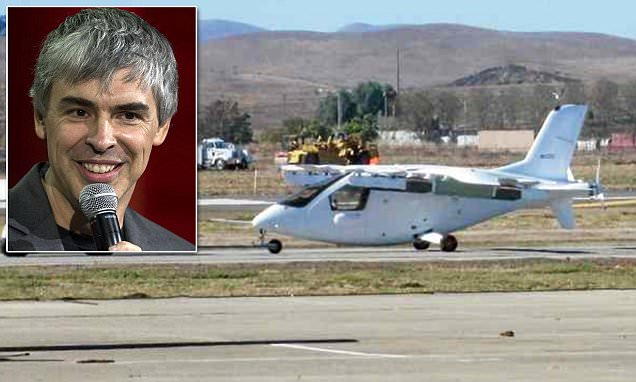 Is this Larry Page's secret flying car? First images emerge of radical electric vehicle