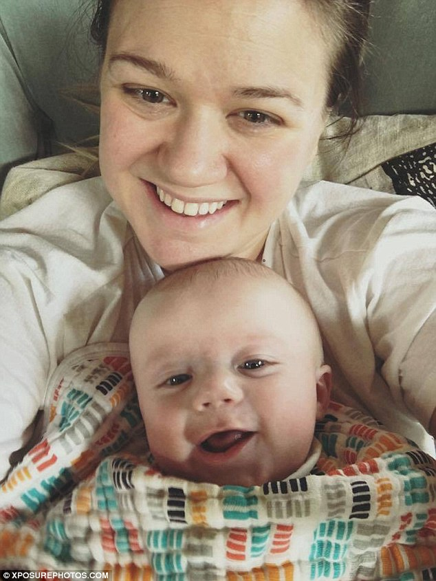 'My mom didn't have help and I have help': The Grammy winner also discussed the 'mom guilt' she feels because of the help she's able to receive in raising her children. She is pictured with son Remington
