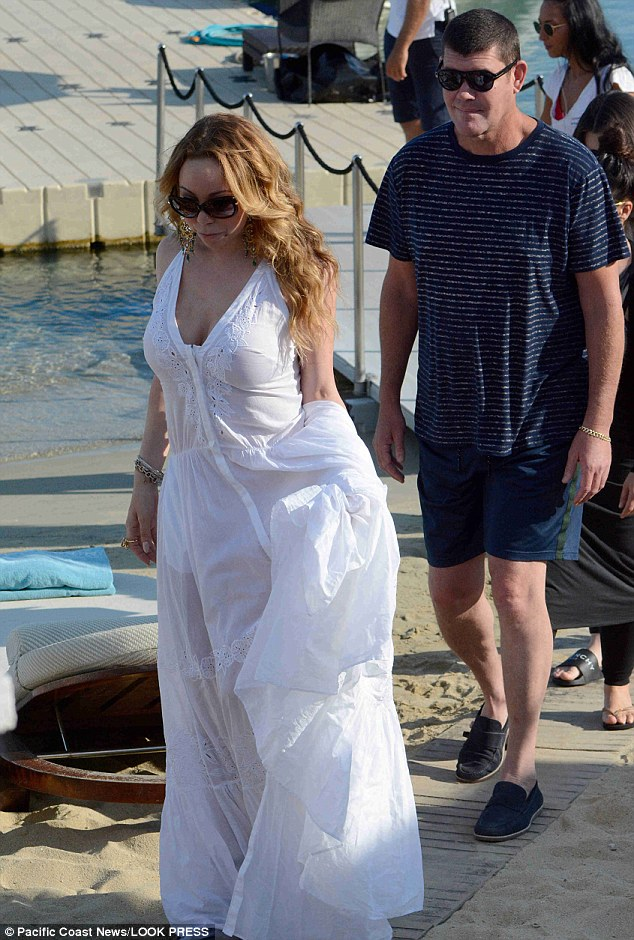 Tense: The pair were on a romantic trip in Mykonos, Greece, in September but their relationship unraveled after a row