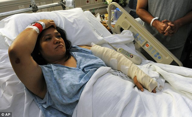 Survivor: Rita Mora was shot three times and is now recuperating at a hospital in Denver