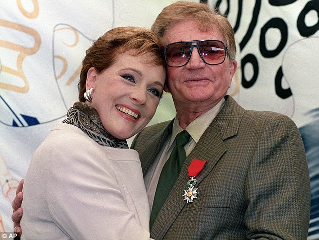 Julie Andrews with Edwards after he was awarded the Legion Of Honour, in Cannes