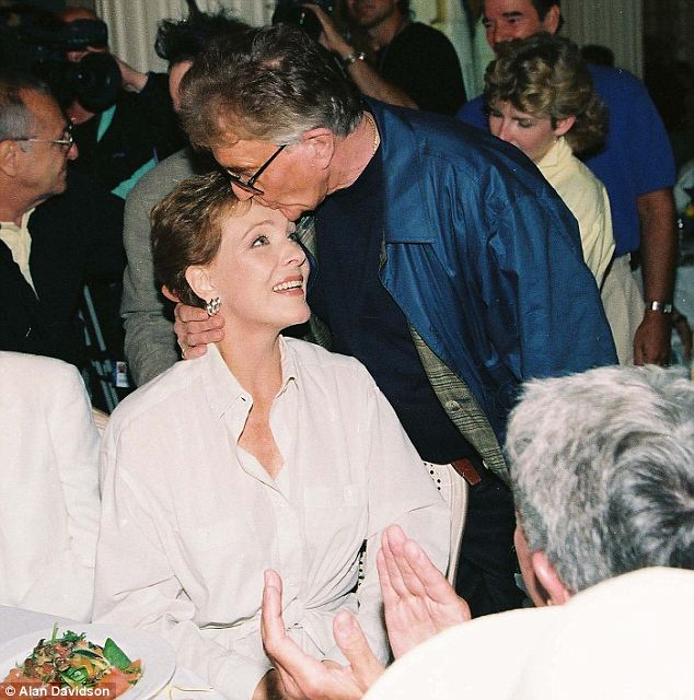 Happy marriage: Edwards' widow Dame Julie Andrews, pictured at the Cannes Film Festival in 1992, was by his side when he died