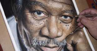 These Artists Create Realistic Morgan Freeman Picture