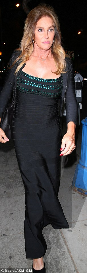 More extras: Caitlyn wore a long gown and Scott Disick had on Yeezys