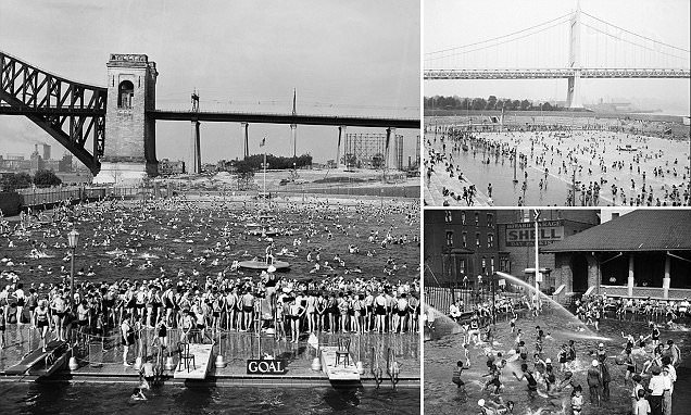 Water fights and packed city pools: Vintage photos of New York's heatwaves will make you