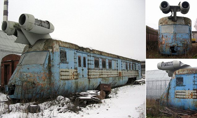 Abandoned Soviet JET TRAIN that was once capable of travelling at 160mph