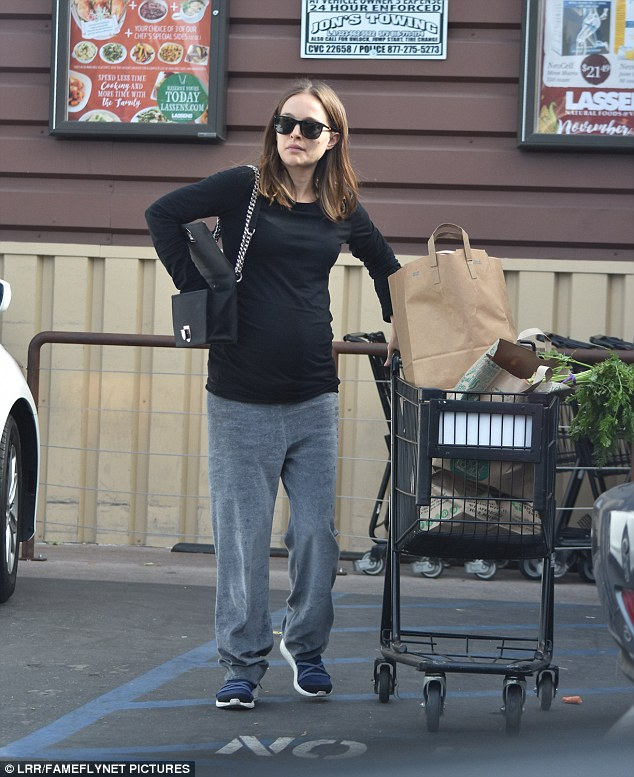 Paying for health: The actress stocked her cart full of green vegetables