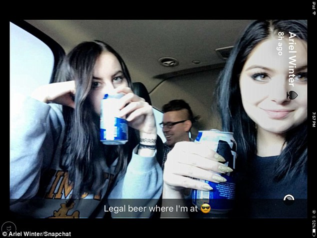 It's legal! The Modern Family star revealed she was indulging in some beer