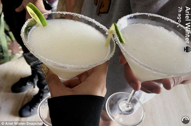 Margarita time! Lucky for Ariel the drinking age is 18 in Mexico