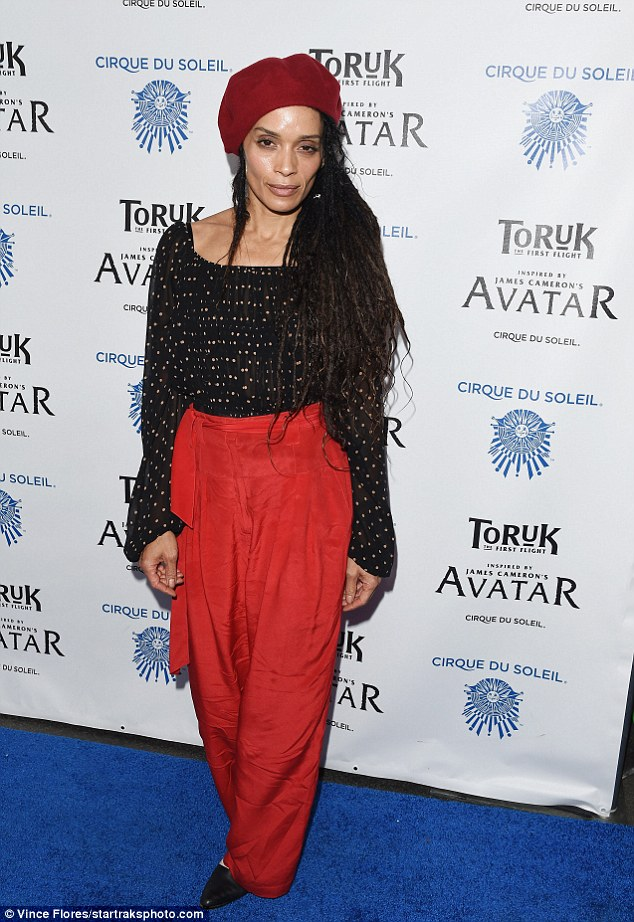Lady in red: Lisa Bonet also attended the Los Angeles opening night