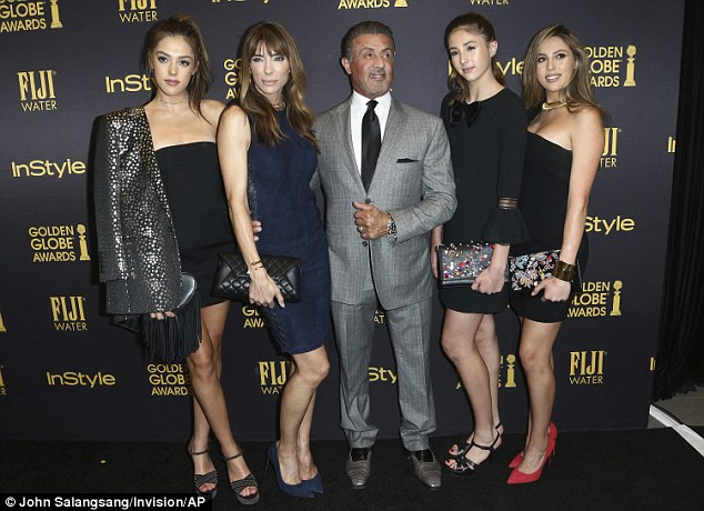 Lucky ones:The Hollywood Foreign Press Association has chosen the three daughters of Rocky star Sylvester to help hand out Golden Globe Awards in January