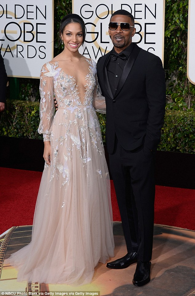 Previous recipient: This past January, it was Jamie Foxx's daughter Corinne Foxx who served as Miss Golden Globe 2016. The HFPA always invite a celebrity offspring to fill the role