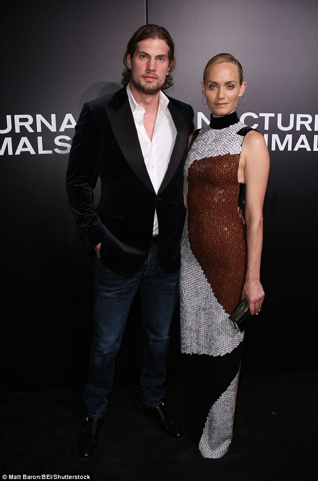 Date night: Model Amber Valletta was joined by volleyball player hubby Chip McCaw