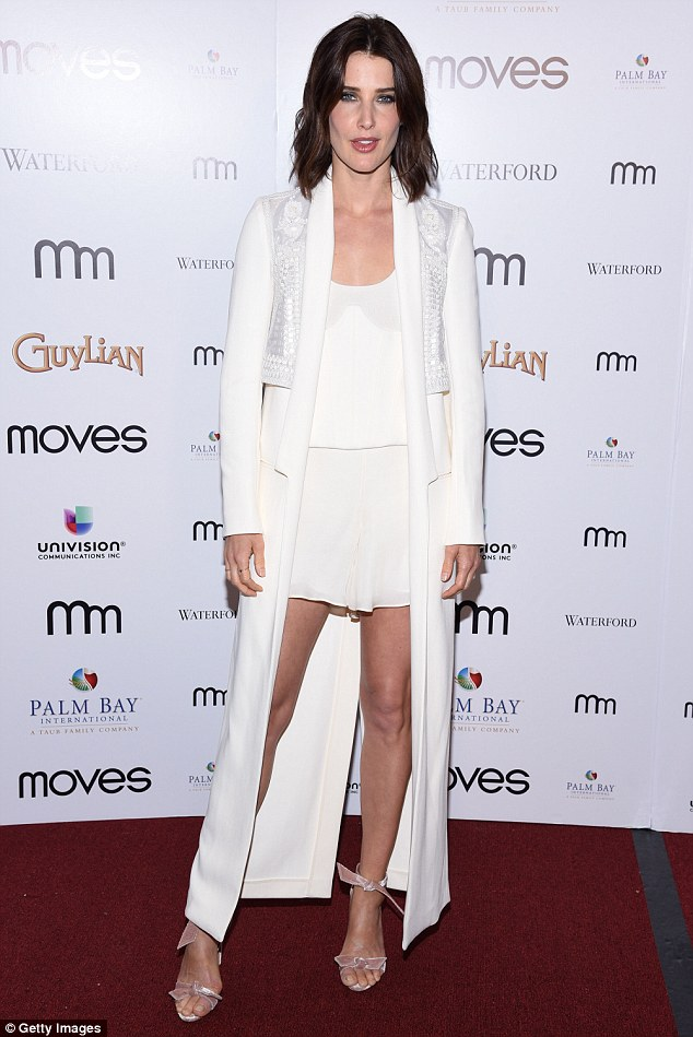 Angelic! Cobie Smulders, 34, turned heads on Friday evening when she attended the Moves Magazine Power Women Gala in New York
