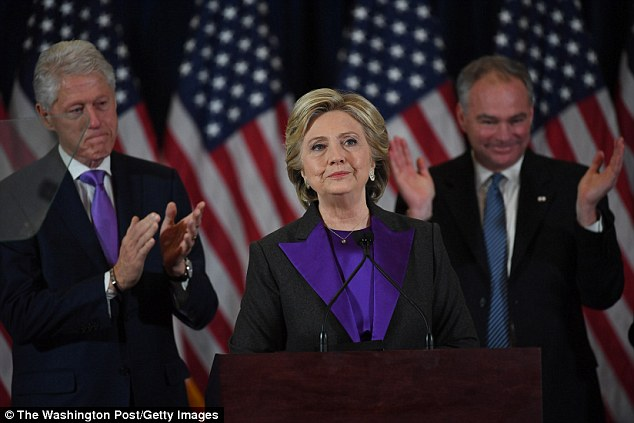 The agony of defeat: Jen's candidate Hillary Clinton announced her concession Wednesday morning