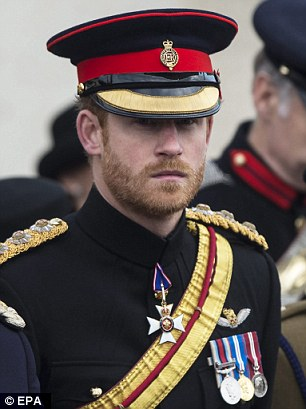 Prince Harry on Thursday marking events in the lead up to Remembrance Sunday